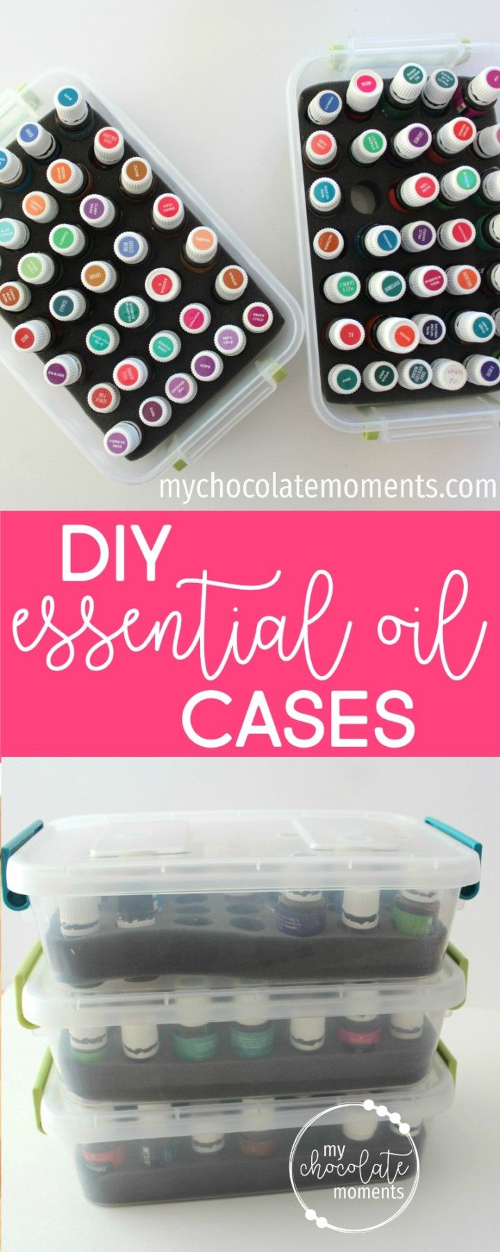 DIY essential oil storage cases Foam inserts from Oil Life