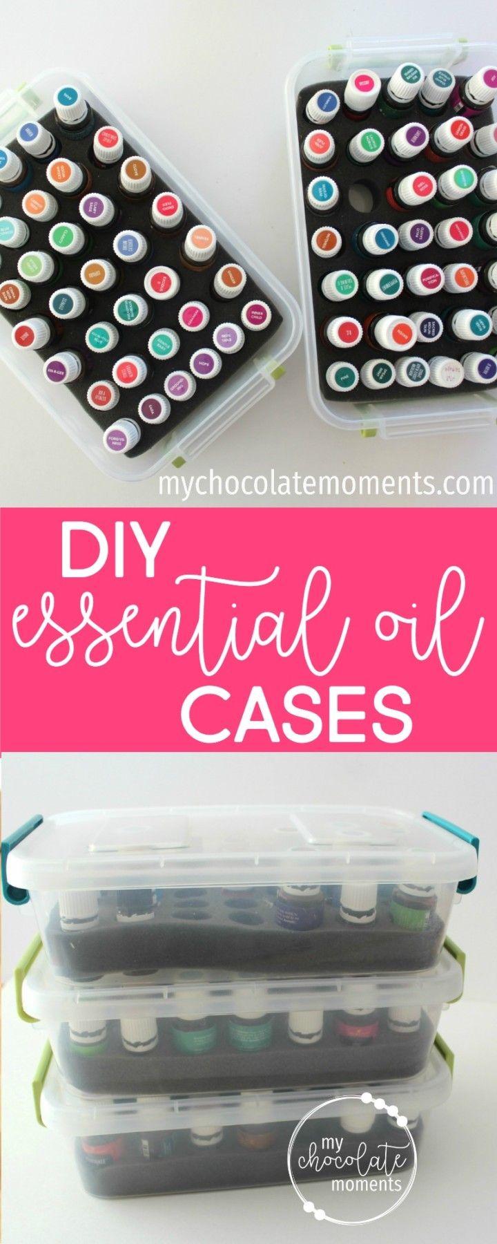 DIY essential oil storage cases