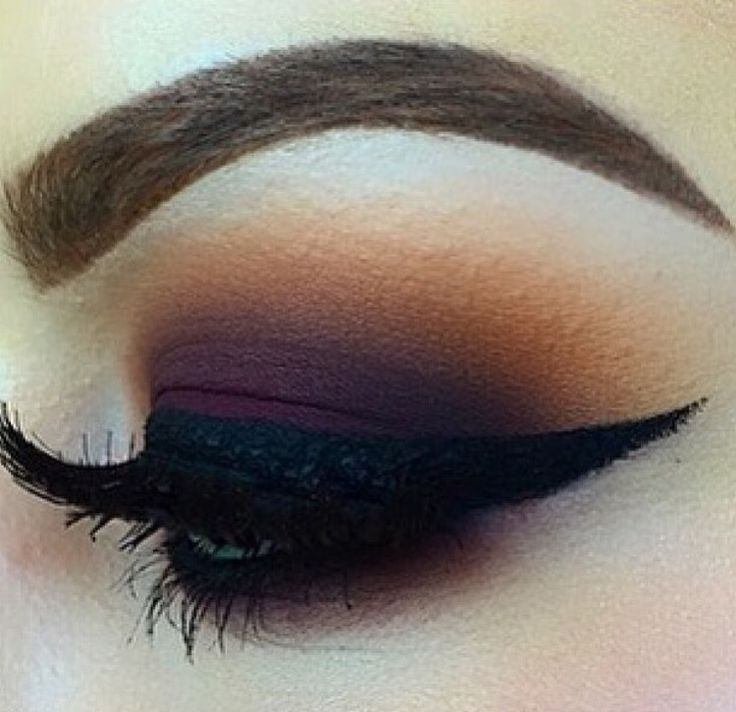 burgundy and orange smokey eye
