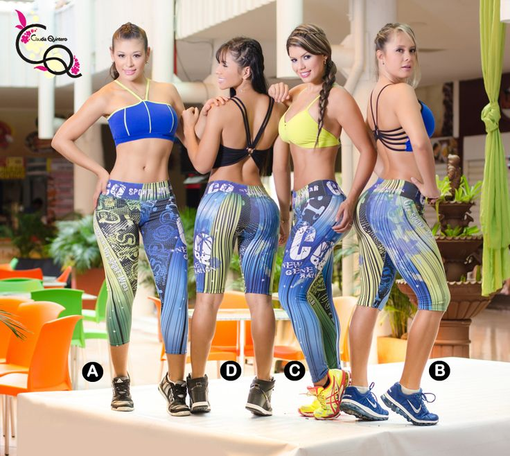 Leggins Deportivos  Gran Variedad De Colores y Diseños  Ropa Deportiva Colombiana Claudia Quintero