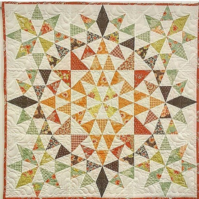 """1,551 Likes, 26 Comments - Southern Fabric Quilting (@southernfabric) on Instagram: """"Isn't this #kaleidoscopequilt made by @mamieamyh gorgeous?  The best part about it is that she made…"""""""