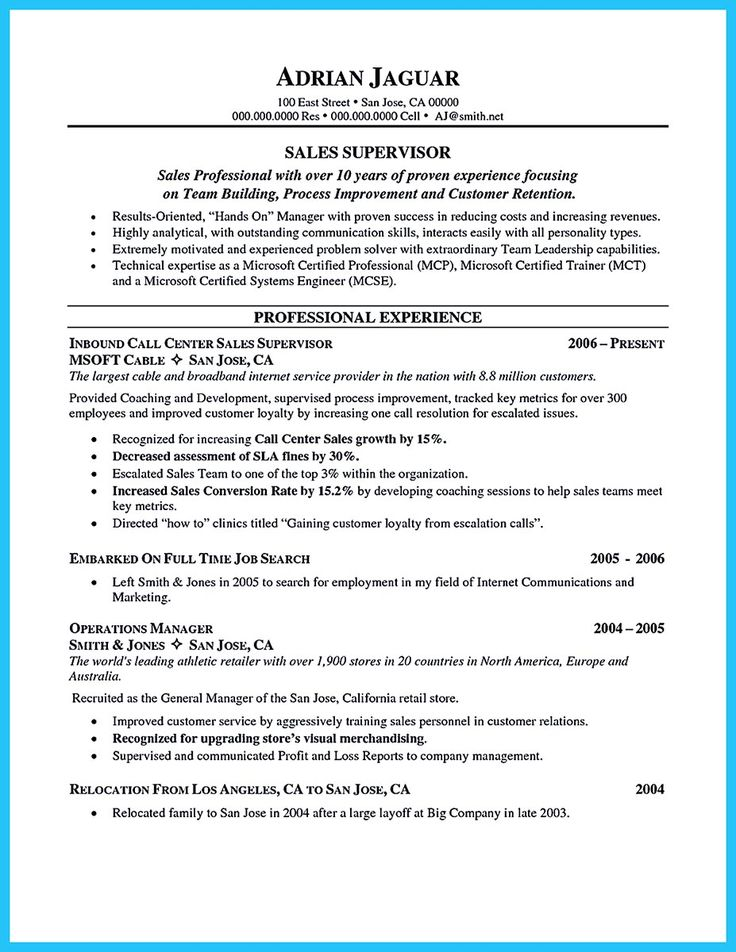 when making call center supervisor resume  you should