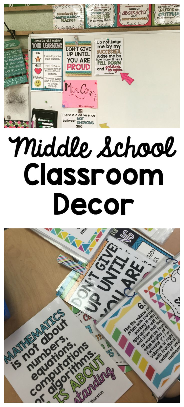 Poster design ideas for school projects - Middle School Classroom Decor More