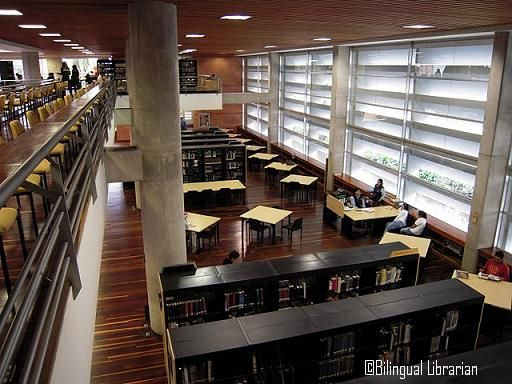 """#Colombia #Bogota #bibliotecas Today I went to visit a couple of the #libraries that make up the BiblioRed in Bogota. BiblioRed is Bogota's public library systems, and it's composed of a number of large, and small libraries, as well as a bibliobus. Today I went to visit the Biblioteca Pública Parque El Tunal, and the Biblioteca Pública Virgilio Barco, both of which are considered """"bibliotecas mayores"""" within the systems (here is a organization map of the library systems)."""