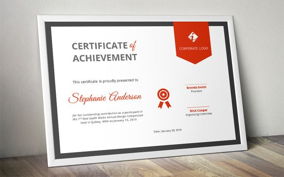 Ribbon certificate template (docx) by @Graphicsauthor