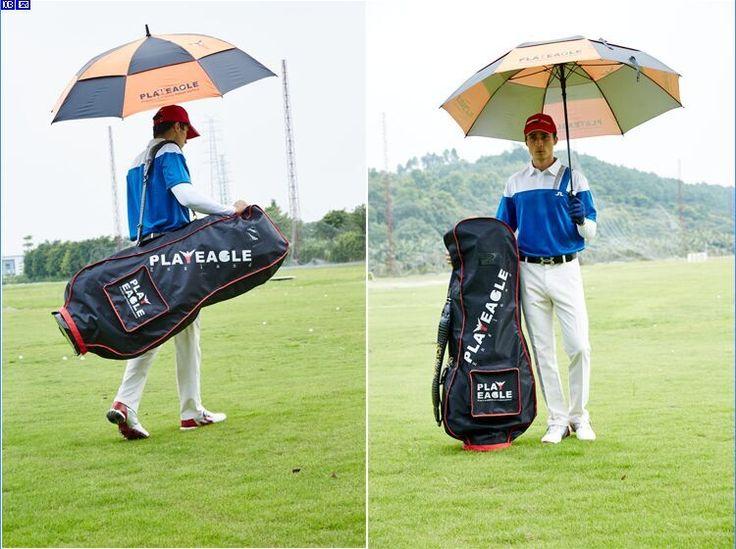 2017 New UV Protection Golf Umbrella with Two Layers Cover Lightweight Straight Automatic Umbrella Rain Umbrella Beach Umbrella