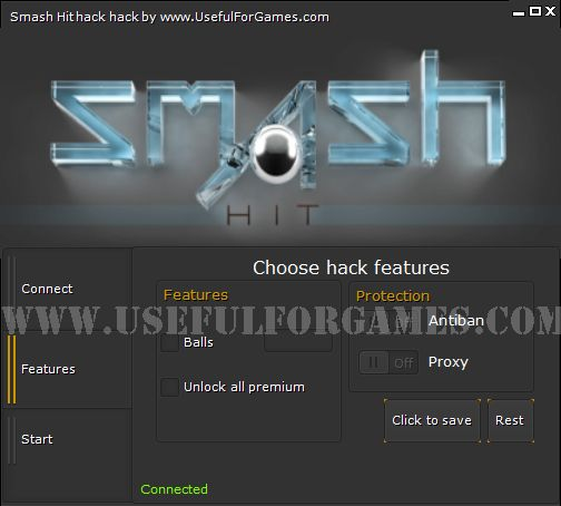 Smash Hit hack is the latest production of Useful For Games team. Simply download this hack and test. If you want to become the best in this game http://usefulforgames.com/smash-hit-hack