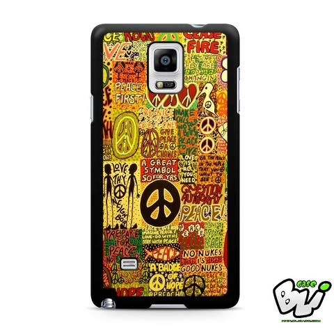 Abstract Typography Peace Samsung Galaxy Note 4 Case