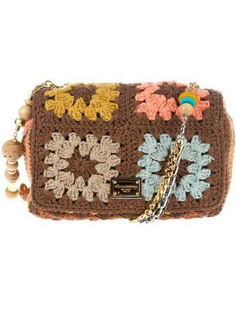 DOLCE AND GABANA 2012 Granny square glamour! #crochetbag