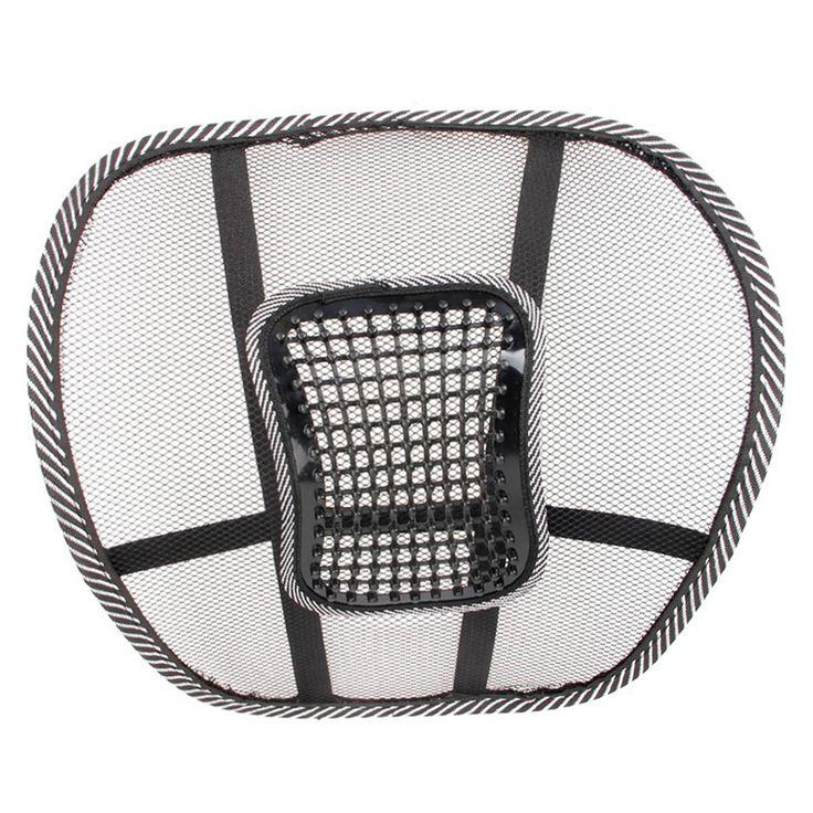 Seat Massage Terug Kussen black mesh lumbale terug brace ergonomisch desgin ondersteuning kussen cool voor office home auto seat stoel