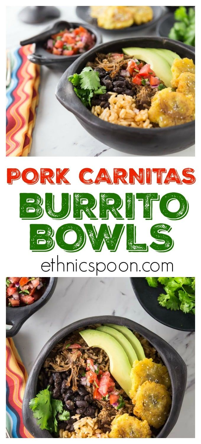 I love burritos! Some of the best Mexican food is so easy to make at home. Slow cooked authentic Mexican pork carnitas burrito bowls is what I am making today. The smell is filling my house and I am getting HUNGRY. Mexican pork carnitas are really the first cousin to pulled pork, a USA favorite. Slow cooker tender and delicious with a nice crispy finish! You will love these authentic Mexican pork carnitas burrito bowls ! Super easy to make in the slow cooker and then crisp up in the oven…