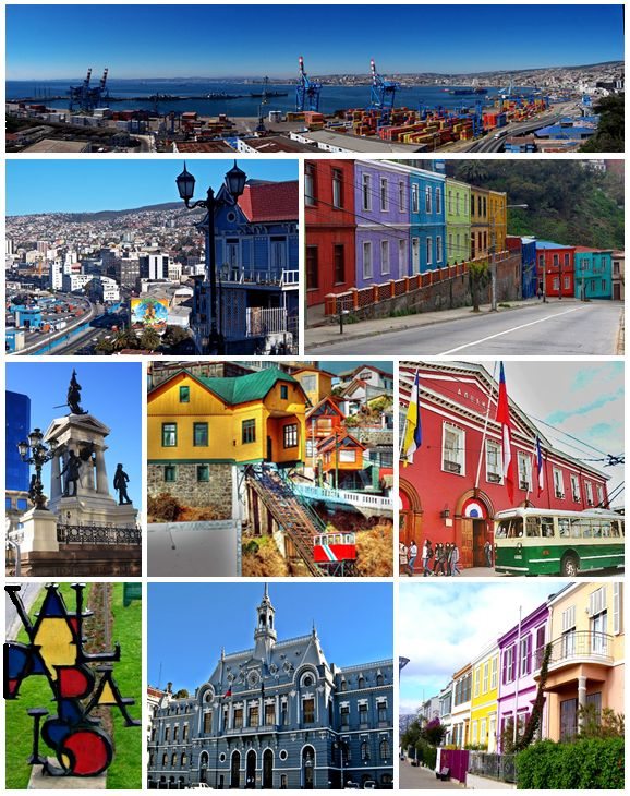 The sea port near Santiago: Valparaiso. Sail Our Seas may call in to this habour town. #sailourseas #sail