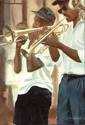 Tiempo de jazz      óleo