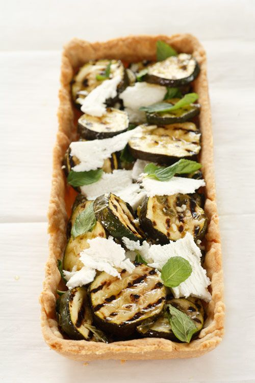 Zucchini, Mint and Feta Salad Filling