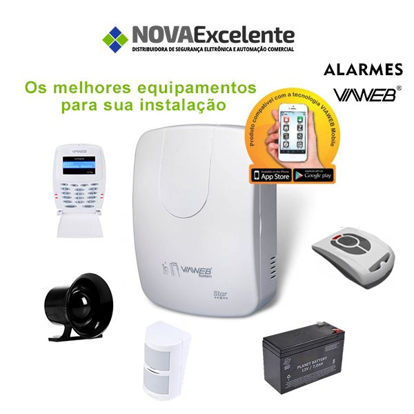 Kit de alarme residencial ou comercial para você montar um verdadeiro sistema de segurança.  Temos central de alarme, sirene, sensor de presença , teclado, bateria, controle e cabos. Reserve seu kit (21) 2410-0086 / 3317-0000 / 99895-3012