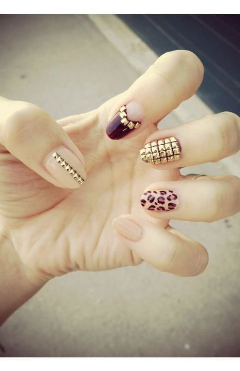 chic studded nail designs