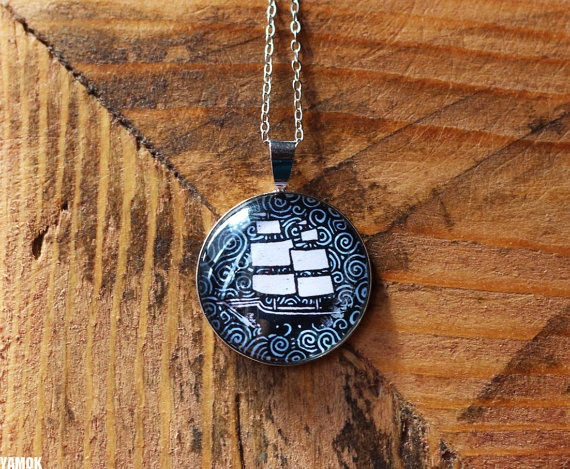 Pendant Ship by Marion Marty for Yamok
