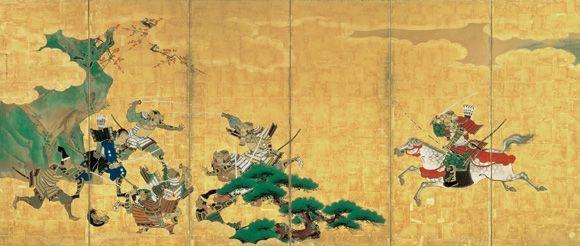 コレクション 風景の交響楽 シンフォニー 狩野探幽 《一ノ谷合戦・二度之懸図屏風》 静岡県立美術館|Shizuoka Prefectural Museum of Art