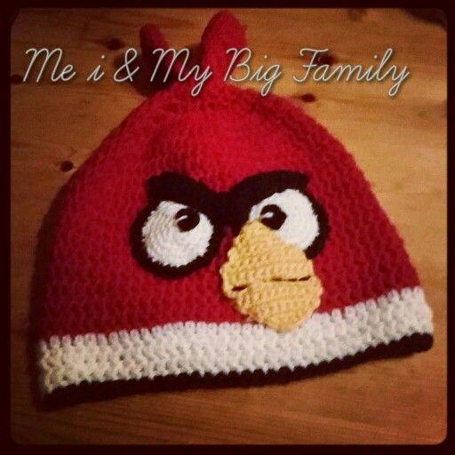 Virkad angrybirds mössa, crochet  Sportsragg