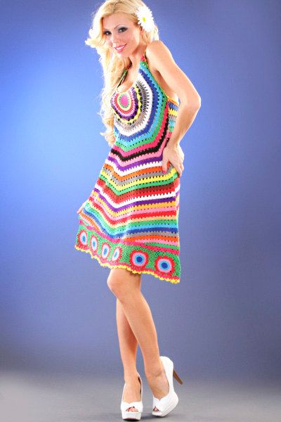 TENDENCIAS de la moda  vestido de crochet por LecrochetArt en Etsy, $380.00