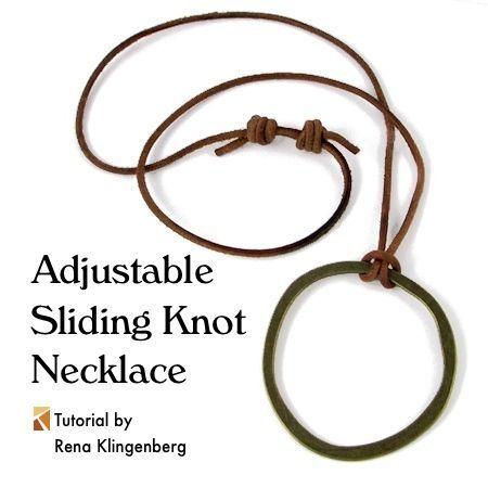 Adjustable Sliding Knot Necklace Tutorial | Sliding Knot Tutorial | How to Make a Sliding Knot Necklace | Sliding Knot Necklace How to Make