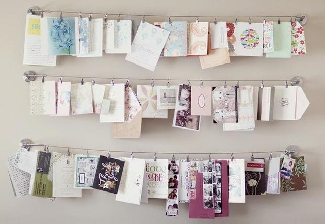 decorar parede com fotos na parede varal