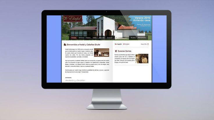 2009: My first website designed in Chile. This was created for a family-run hosteling business. // Mi primer sitio web diseñado en Chile. Este diseño fue creado para un negocio familiar de hostales.