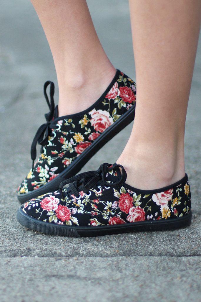 Favorite Canvas Sneakers {Floral} | Boutique Shoes – The Fair Lady Boutique