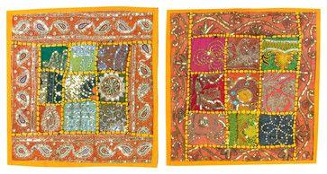 Sari Patchwork Sequin Beaded Sofa Cushion Covers, Set of 2 asian-pillowcases-and-shams #cushion cover #boho pillowcase #throw #indian sham #home decor #designer pillow case #decoartive #home decor #sofa sushion cover