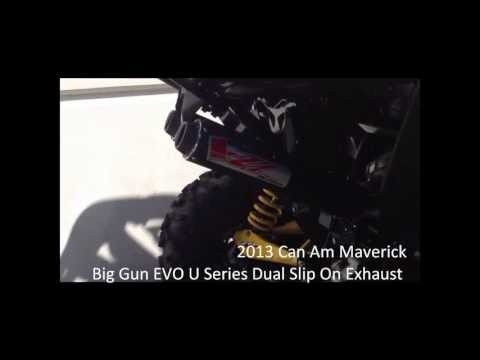 Can Am Maverick Big Gun Exhaust Dual Slip Ons        ~~~~~~~ TRAX ATV Store - traxatv.com ~~~~~~~ TRAX ATV Youtube - https://www.youtube.com/channel/UCI_ZJAkR3aGdwcM0z7dO94w/videos?view=1=grid