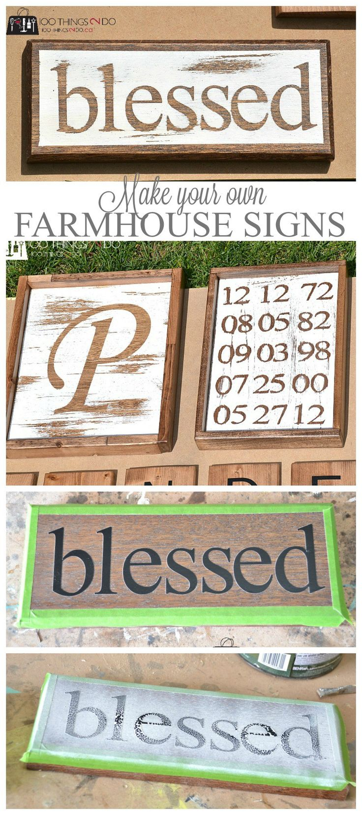 Primitive stencil home sweet home 12x12 for painting signs crafts - Make Your Own Farmhouse Signs