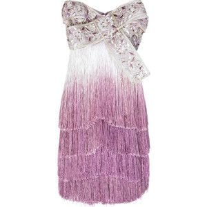 obsessed Marchesa Ombre fringed dress, as seen on gossip girl