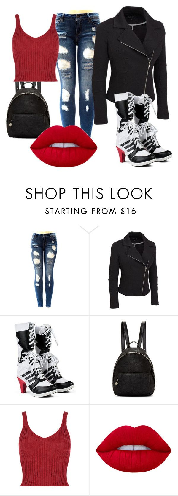 """Harley Quinn"" by dsingleterry ❤ liked on Polyvore featuring STELLA McCARTNEY, Lime Crime and plus size clothing"