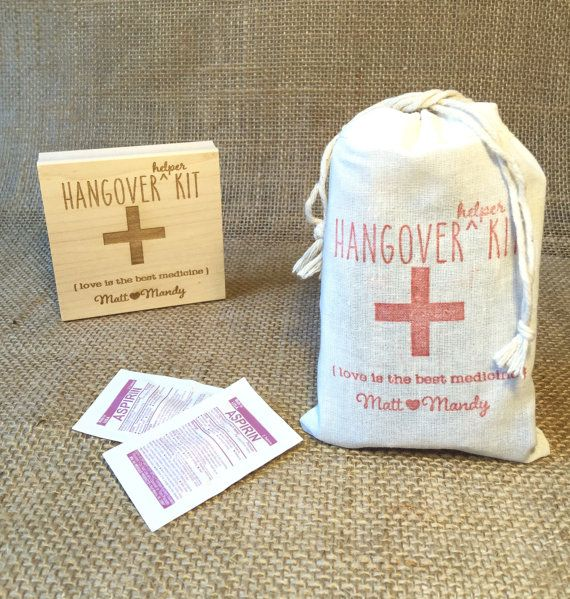 Custom Stamp. Hangover Helper Kit. DIY Wedding by AproposRoasters