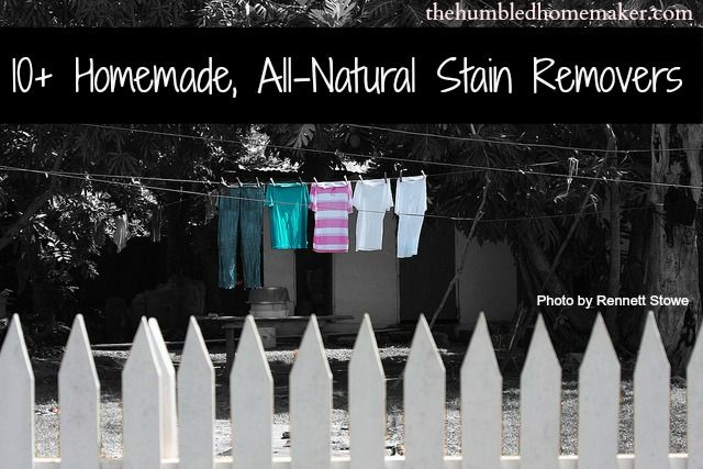 10+ Homemade, All-Natural Stain Removers PLUS the BEST Stain Remover Ever!