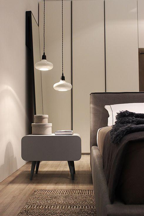 Grey modern nightstand design   www.bocadolobo.com #bocadolobo #luxuryfurniture #exclusivedesign #interiodesign #designideas #bedroomdesign #bedroomideas #nightstandsideas #bedsidetables