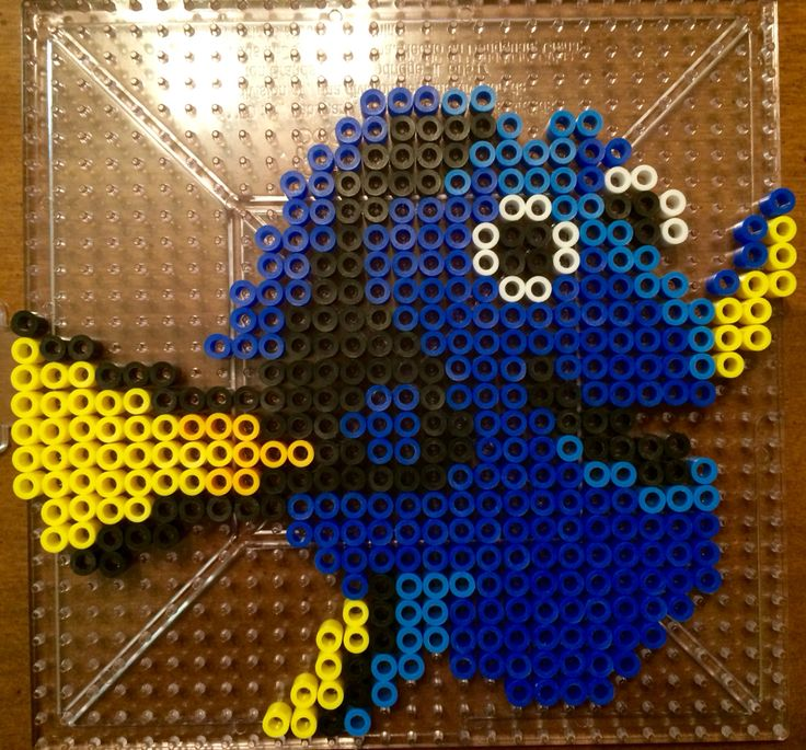 Dory Perler Bead design! I saw this pattern on Pinterest a couple of days ago and decided to do it myself! -Hannah B.