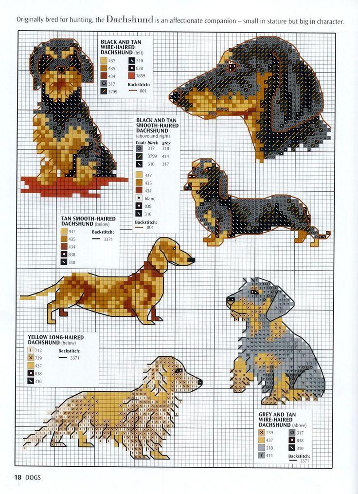 Ago-Works Butterfly: cani e cuccioli Punto Croce Schemi Gravhunde til korsting