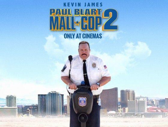PAUL BLART: MALL-COP 2 (PG). Action | Comedy.  Dir. Andy Fickman, US, 2015, 94 mins.  Cast: Kevin James, Raini Rodriguez, Eduardo Verástegui. Release date: 10/04/15.