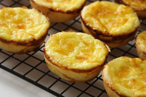 Guyanese cheese pies:  Ingredients For Pastry: 2 cups all purpose flour, plus extra for dusting 1 ½ teaspoons sugar 1/8 teaspoon salt (a pinch) 2 oz cold vegetable shortening, cubed 6 oz cold unsalted butter, cubed 3 – 4 tablespoons iced water For Filling: 2 cups grated cheddar cheese 3 eggs, room temperature ¾ cup whole milk ¼ …