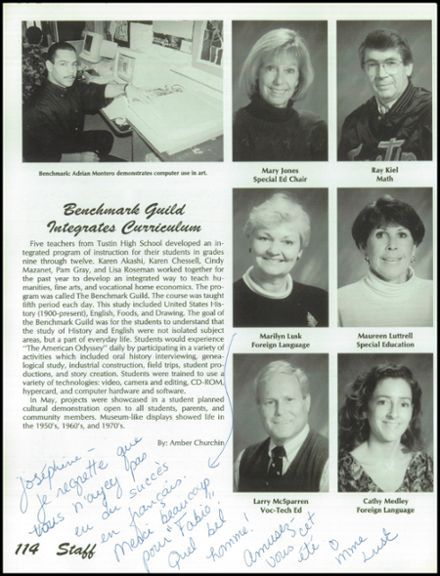 1994 Tustin High School Yearbook via Classmates.com