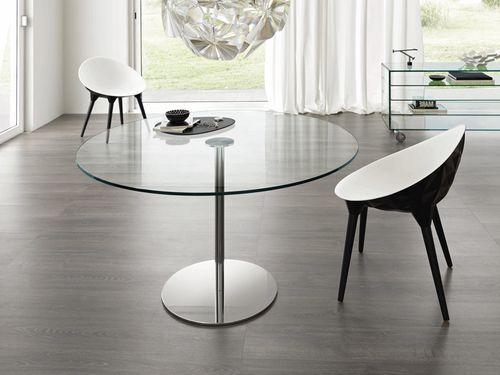 Tavolo  vetro / rotondo FARNIENTE by G.T.Garattoni TONELLI Design