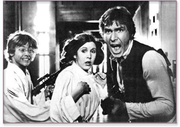 Mark Hamill, Carrie Fisher and Harrison Ford | this is great