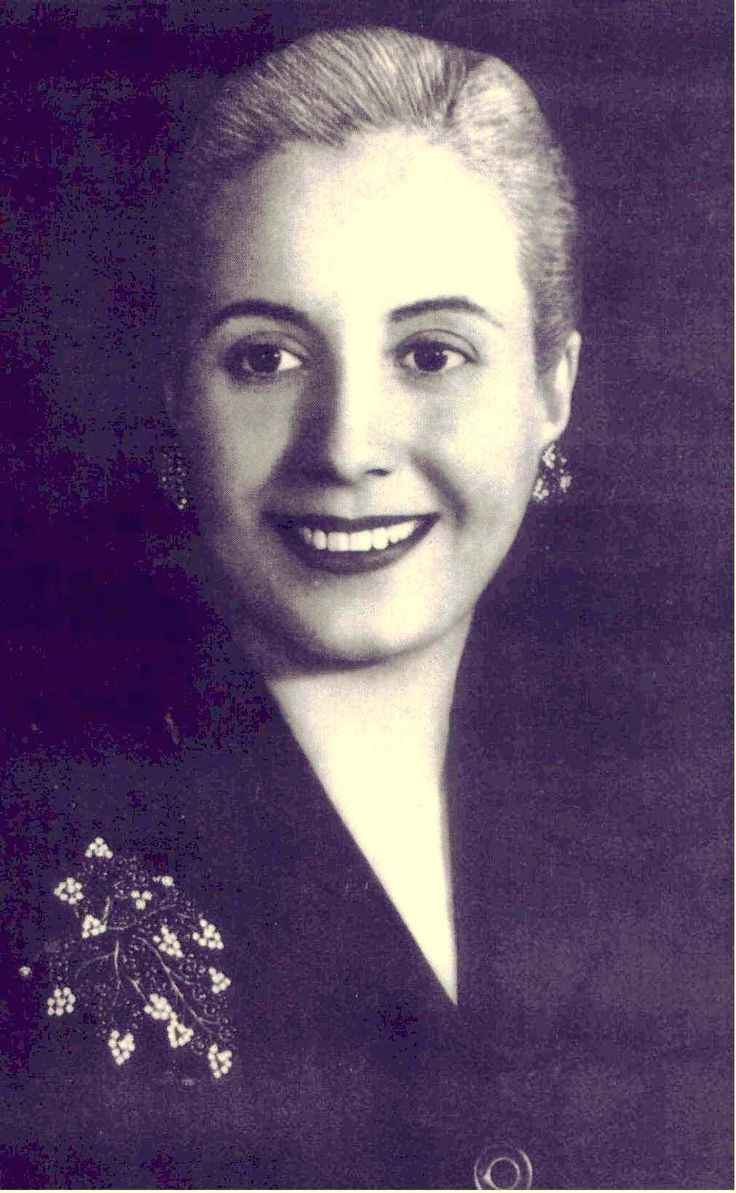 María Eva Duarte de Perón (Evita) - May 7, 1919 – July 26, 1952 - First Lady of Argentina from 1946 to her death from cervical cancer in 1952.