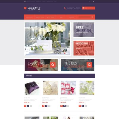 Wedding Shop Bootstrap OpenCart Template