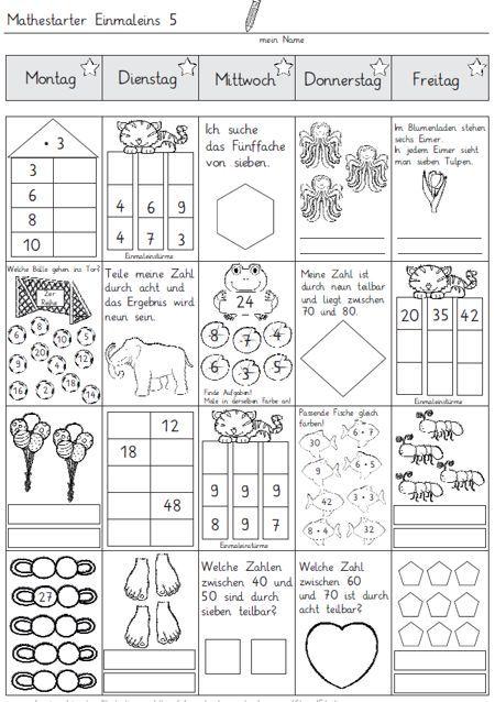 Mathestarter 1x1 - Woche 5 und 6 | Zaubereinmaleins - DesignBlog | Bloglovin'