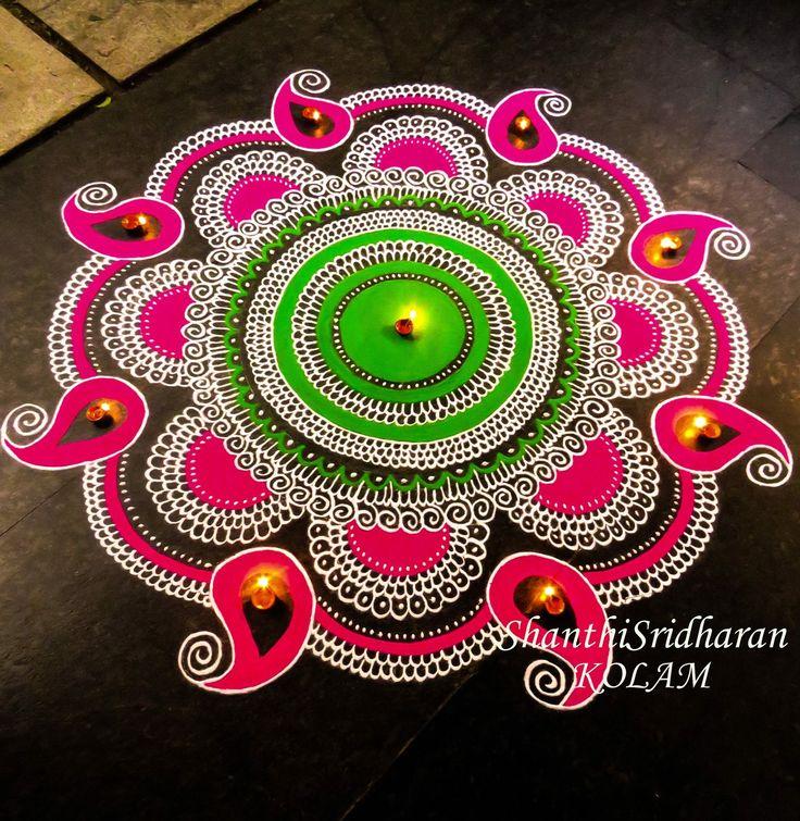 #mandala#pink#green#paisley#round#circle