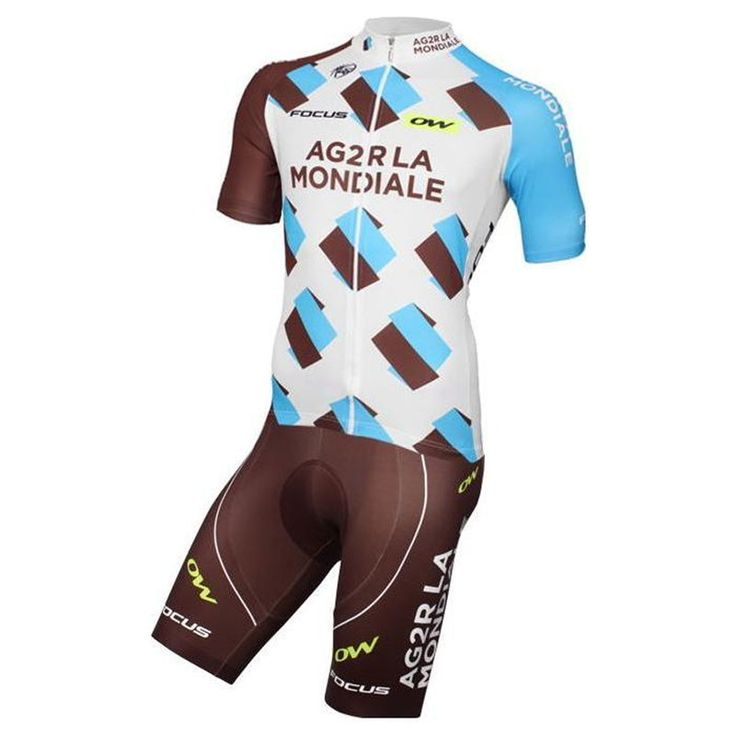 Nalini AG2R Brown White Team kit The Nalini AG2R Brown-White Team kit, with the design of the AG2R La Mondiale team, stands out for its fabric of high performance with properties that make it unique and especially suited to the practice of cycling.  #ag2rteam #retto #nalini