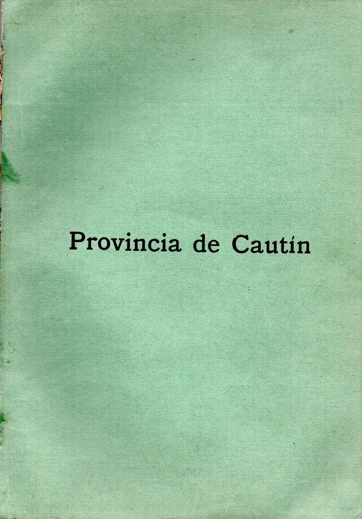 """Provincia de Cautín (1920) Guía """"Inter-America"""" Departamentos de Temuco, Imperial y Llaima"""