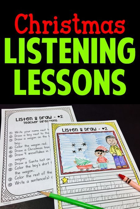 """Listening Lessons with a Christmas theme:  """"My students LOVED these activities. It showed me how well they listened to instructions. The wording was clear and simple.""""  paid"""